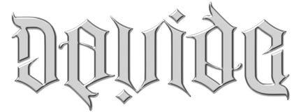 ambigram戴维davide illuminati 免版税库存图片