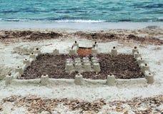 Ambitiös sandslott Royaltyfri Foto