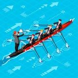 Ambitiöst begrepp för vektor för ambitioner för affärsändringskarriär Fotografering för Bildbyråer