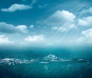 Ambiti di provenienza astratti dell'oceano e del mare Immagine Stock