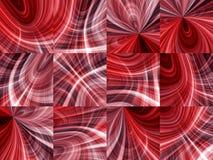 Ambiti di provenienza astratti di colore rosso Fotografia Stock