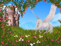 Ambiti di provenienza astratti di fantasia con il libro magico illustrazione vettoriale