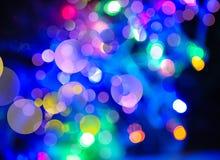 Ambiti di provenienza astratti di feste con il bokeh e le luci di bellezza Immagine Stock
