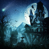 Ambiti di provenienza astratti di Halloween illustrazione di stock