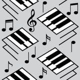 Ambiti di provenienza astratti di musica Chiavi del piano e note musicali Fotografia Stock Libera da Diritti