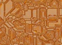 Ambiti di provenienza astratti futuristici struttura arrugginita del metallo digitale Fotografie Stock