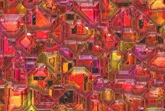 Ambiti di provenienza astratti futuristici. struttura regolare digitale Immagine Stock