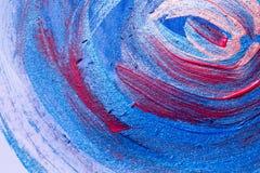 Ambiti di provenienza di astrattismo: Dipinto a mano dei colpi e dello spl della spazzola fotografia stock