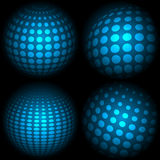 Ambiti di provenienza blu stabiliti di tecnologia illustrazione vettoriale