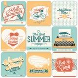 Ambiti di provenienza calligrafici di progettazioni di estate Fotografia Stock Libera da Diritti