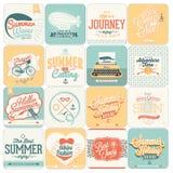 Ambiti di provenienza calligrafici di progettazioni di estate Immagini Stock Libere da Diritti