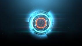Ambiti di provenienza circolari del nero dell'onda di spettro blu con le particelle illustrazione vettoriale