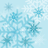 Ambiti di provenienza con i fiocchi di neve Fotografia Stock Libera da Diritti