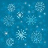Ambiti di provenienza con i fiocchi di neve Fotografie Stock Libere da Diritti