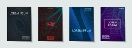 Ambiti di provenienza con progettazione fresca e minima Applicabile per le coperture, i cartelli, i manifesti, le alette di filat illustrazione vettoriale