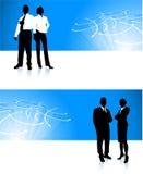 Ambiti di provenienza corporativi della bandiera della squadra di affari Immagini Stock Libere da Diritti