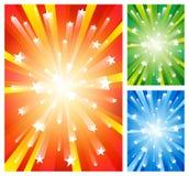 Ambiti di provenienza dei fuochi d'artificio Immagine Stock