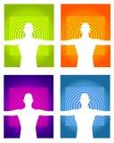 Ambiti di provenienza del corpo e di mente Immagini Stock Libere da Diritti