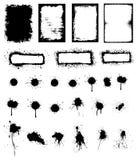 Ambiti di provenienza del grunge e Splattered Fotografie Stock Libere da Diritti