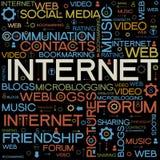 Ambiti di provenienza del Internet con le parole Immagine Stock Libera da Diritti