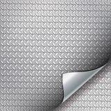 Ambiti di provenienza del metallo con l'angolo curvo. Fotografia Stock
