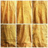 Ambiti di provenienza del tessuto dell'oro. Fotografia Stock Libera da Diritti