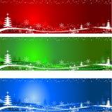 Ambiti di provenienza dell'albero di Natale Immagini Stock Libere da Diritti