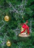 Ambiti di provenienza dell'albero di Natale immagine stock