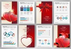 Ambiti di provenienza dell'annata di giorno di biglietti di S. Valentino Immagine Stock Libera da Diritti