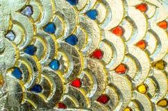 Ambiti di provenienza dell'oro della sfuocatura Immagine Stock