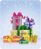 Ambiti di provenienza della cartolina di Natale Fotografia Stock