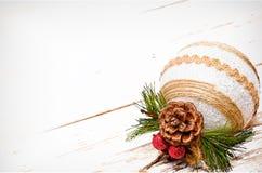 Ambiti di provenienza della cartolina di Natale Fotografia Stock Libera da Diritti