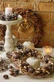 Ambiti di provenienza della decorazione di Natale Fotografia Stock Libera da Diritti