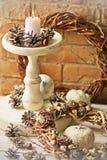 Ambiti di provenienza della decorazione di Natale Fotografie Stock