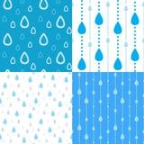 Ambiti di provenienza della pioggia illustrazione vettoriale