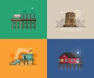 Ambiti di provenienza della spiaggia di estate illustrazione di stock