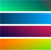 Ambiti di provenienza delle bandiere di colore di gradiente Fotografie Stock Libere da Diritti