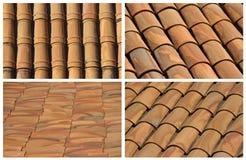 Ambiti di provenienza delle mattonelle di tetto Fotografia Stock Libera da Diritti