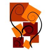 Ambiti di provenienza di arte astratta rossi Fotografia Stock