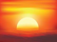 Ambiti di provenienza di astrattismo di tramonto Immagini Stock Libere da Diritti