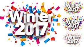 Ambiti di provenienza di colore di inverno 2017 messi Fotografia Stock