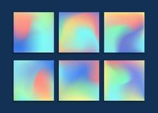 Ambiti di provenienza di colori del liquido messi Applicabile per l'insegna, copertura, aletta di filatoio, opuscolo, carta da pa Immagini Stock