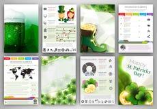 Ambiti di provenienza di Infographic del giorno di St Patrick Fotografia Stock