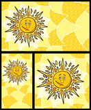 Ambiti di provenienza di Sun Immagini Stock