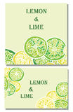 Ambiti di provenienza di vettore della limetta e del limone Immagini Stock Libere da Diritti