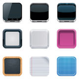 Ambiti di provenienza di vettore per le icone quadrate Immagini Stock Libere da Diritti