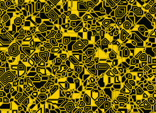 Ambiti di provenienza digitali astratti futuristici di schema Immagine Stock