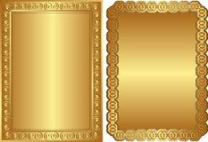 Ambiti di provenienza dorati illustrazione vettoriale