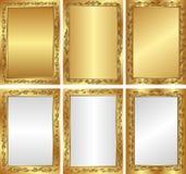 Ambiti di provenienza dorati Fotografie Stock Libere da Diritti