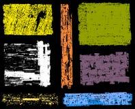 Ambiti di provenienza e bandiere di Grunge Fotografia Stock